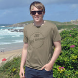 'Surf Kernow Seal' - Walnut Organic Cotton T-shirt - (Men/Unisex)