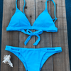 Aqua Blue Bikini Bottoms - NEON Collection-Bikini Bottoms-KEY Swimwear