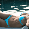 Aqua Blue Bikini Top - NEON Collection - KEY Swimwear
