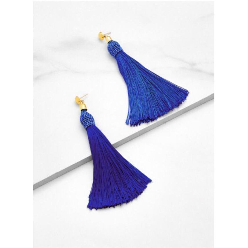 shop noonday jewelry earrings cobalt large accessories fringe collection feathered