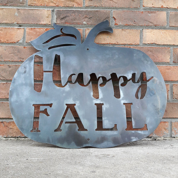 HAPPY FALL Metal Sign