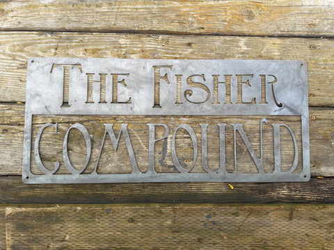 Rustic Home & Garden Sign - Personalized