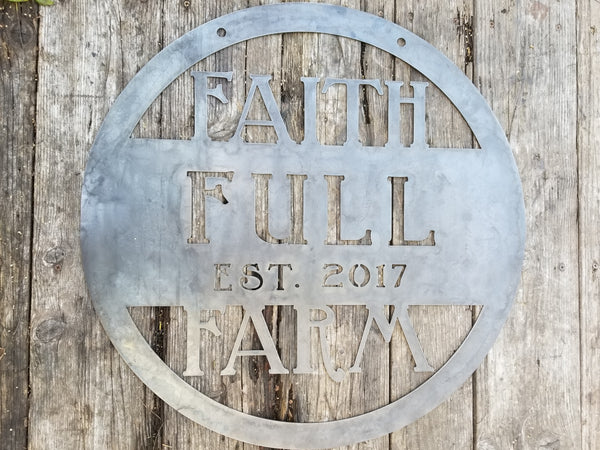 Rustic Hanging Farm Sign w Year - Personalized