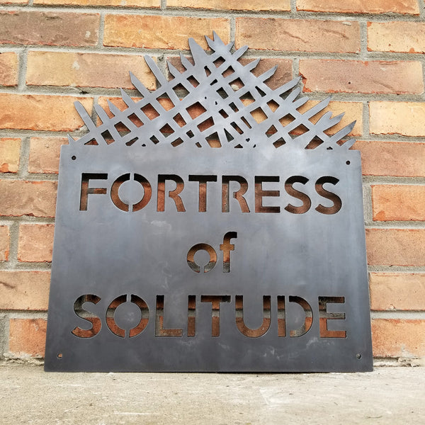 Fortress of Solitude - Metal Man Cave Sign - Fan Art, Superman Tribute, Comic Decor