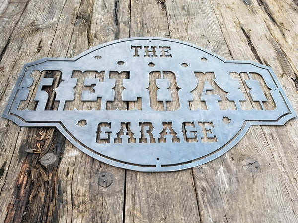 The Reload Garage w/ Bullet Holes - Personalized