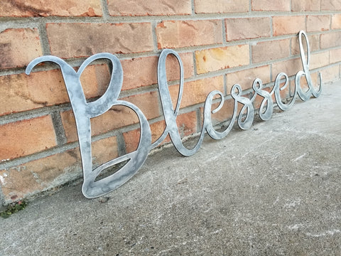 Personalized Metal Cursive Word