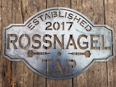 Vintage Bar and Tap Sign- Personalized