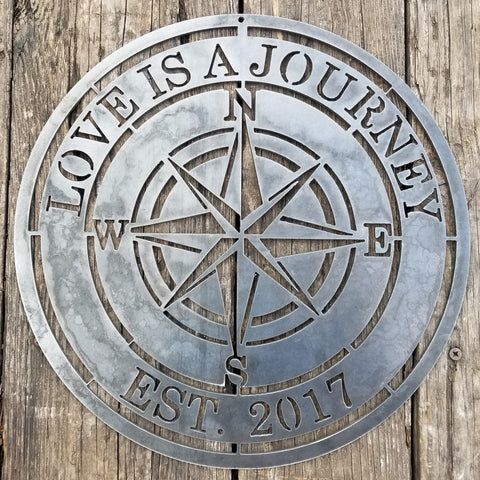 Compass Rose Metal Sign - Customizer