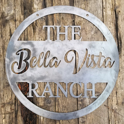 Hanging Farm or Ranch Sign - Personalized Family Farm, Ranch - Rustic, Industrial