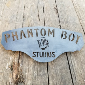 Personalized Music Studio Sign - Retro, On Air, Recording, Speaker, Vinyl, Record, Turntable, Label, Independent, DIY