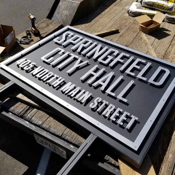 3D Custom Metal Sign - Your Design or Business Logo - 2 Layered Sign, 3D Metal Wall Art