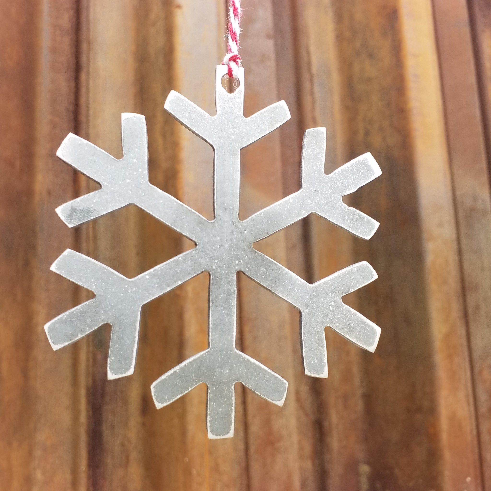 Winter Snowflake Christmas Ornament - FREE SHIPPING, Stocking Stuffer, Holiday Gift, Tree