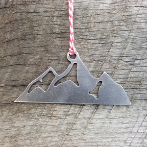Mountain Christmas Ornament - FREE SHIPPING, Stocking Stuffer, Holiday Gift, Tree