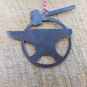 Anvil & Hammer Christmas Ornament - FREE SHIPPING, Stocking Stuffer, Holiday Gift, Tree, Tool, Blacksmith