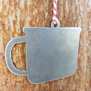Coffee Mug Ornament - FREE SHIPPING, Stocking Stuffer, Holiday Gift, Tree, Coffee, Mug, Cup