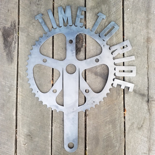 Time to Ride! Bike Gear - Fitness Home Gym Sign - Work Out, Exercise, Biking Wall Art