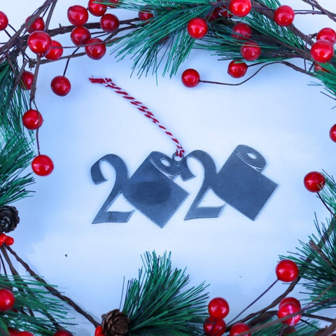 2020 Toilet Paper Christmas Ornament - Funny Holiday Stocking Stuffer Gift - Tree Home Decor