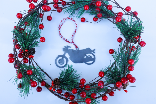 Motorcycle Christmas Ornament - Holiday Stocking Stuffer Gift - Tree Home Decor