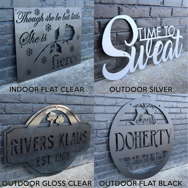 Alpine Lake Sign - Personalized