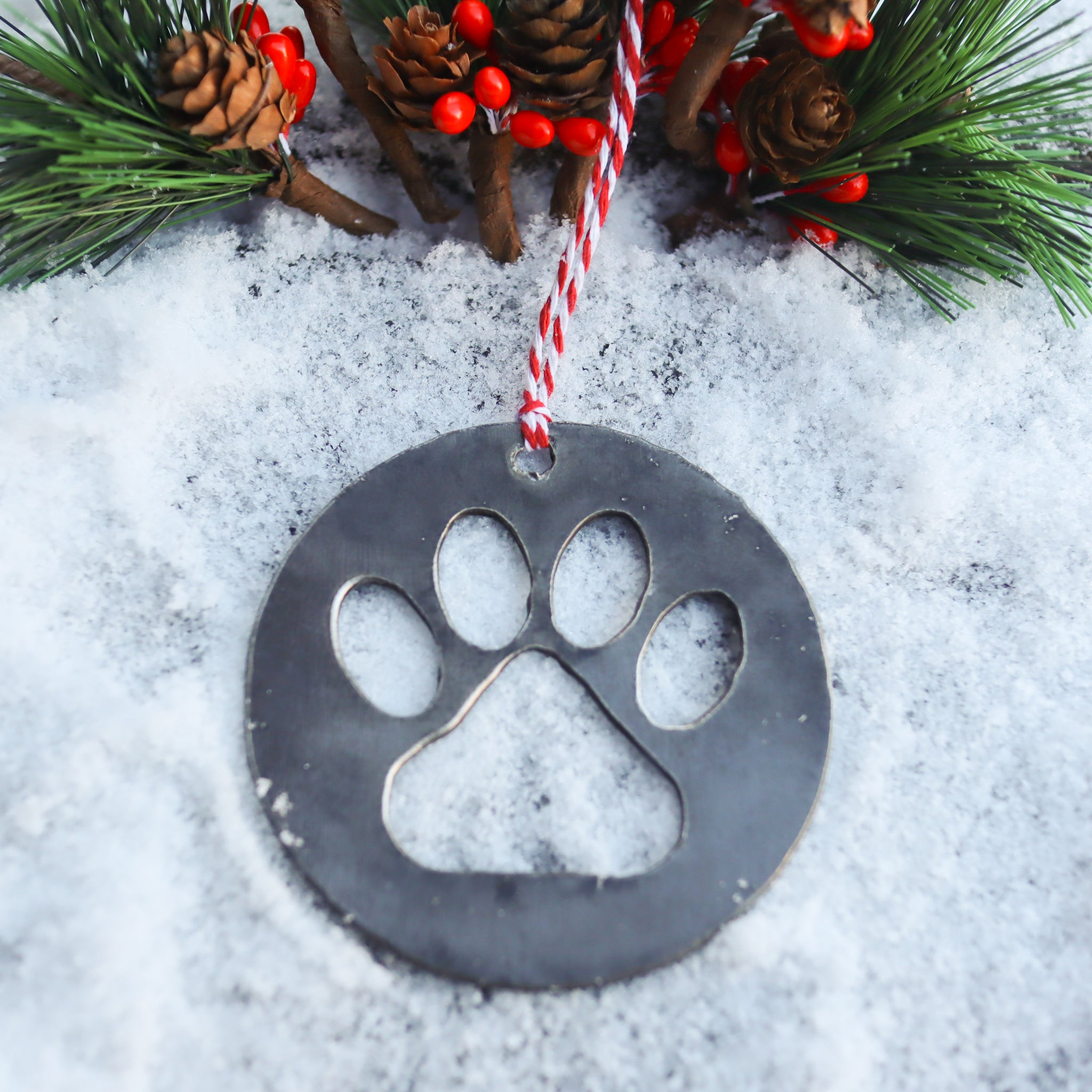 Cat Paw Christmas Ornament - Pet Lover Holiday Stocking Stuffer Gift - Tree Home Decor