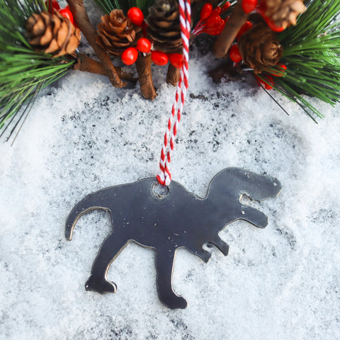 Dinosaur Christmas Ornament - Kids Holiday Stocking Stuffer Gift - Tree Home Decor