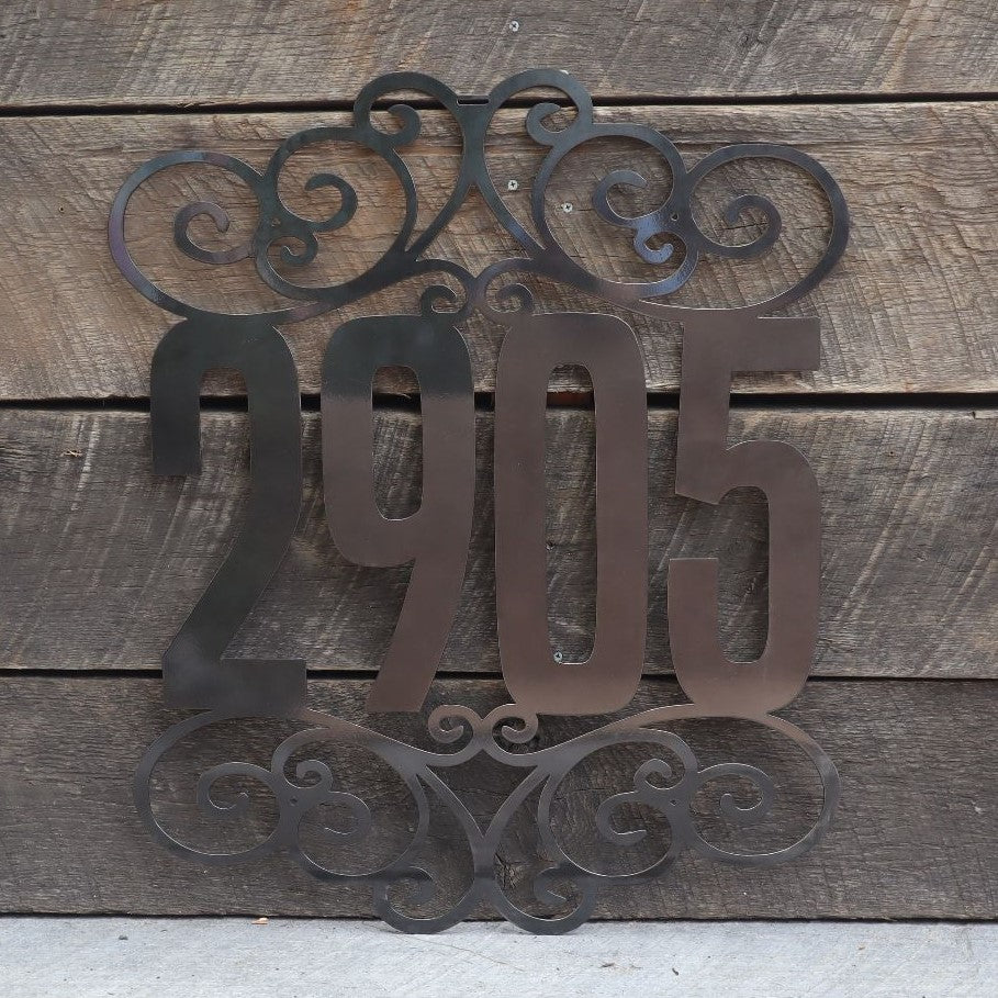 Custom Metal Home Address Sign - House Number Sign - Elegant House Address Plaque - Mother's Day 2021