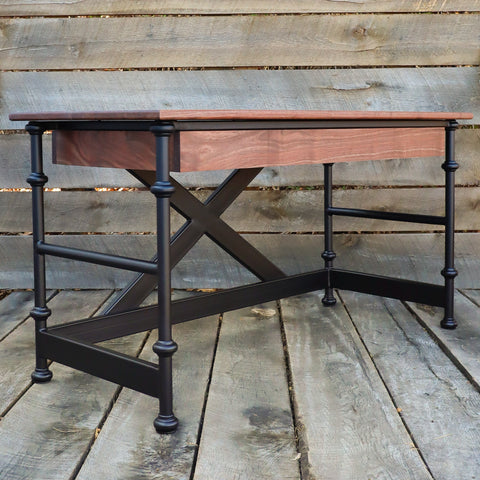 Industrial Farmhouse Writing Desk - Handcrafted Furniture Home Office Decor