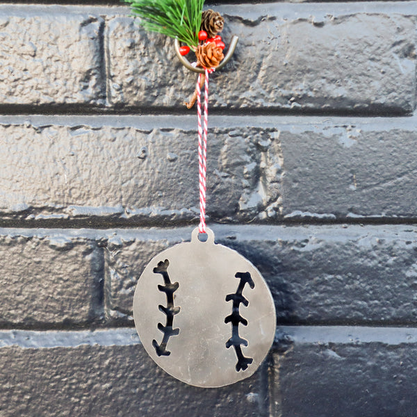 Baseball Christmas Ornament - Holiday Stocking Stuffer Gift - Tree Home Decor
