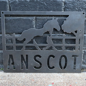 Personalized Metal Horse and Filly Sign - Equestrian - Stables - Western - Horse Lovers Gift