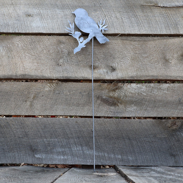 Metal Bird Garden Stake - Steel Gardening Decor - Yard Art Marker