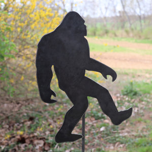 Metal Bigfoot Garden Stake - Steel Gardening Decor - Sasquatch Yard Art Marker