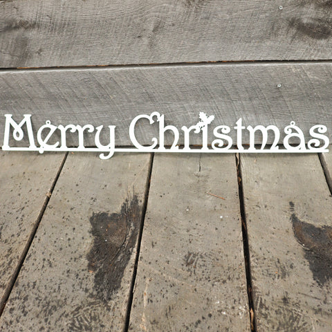 Merry Christmas Metal Sign - Holiday Wall Art Home Decor