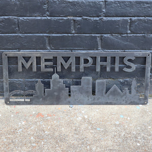 Personalized Metal Memphis Skyline Sign - Memphis, Tennessee Wall Art