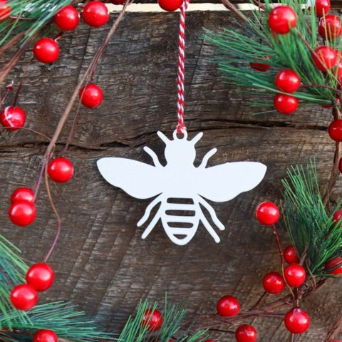 Bee Christmas Ornament - Holiday Stocking Stuffer Gift - Tree Home Decor