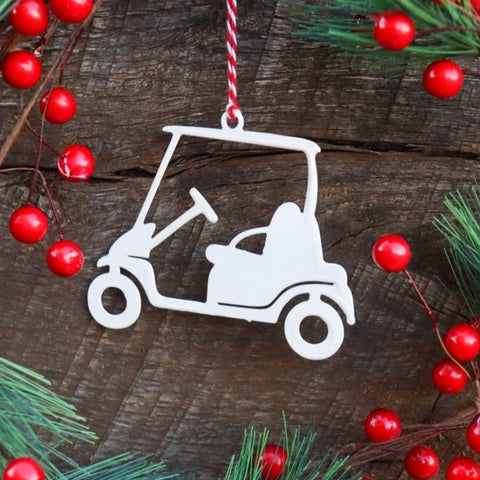 Golf Cart Christmas Ornament - Holiday Stocking Stuffer Gift - Tree Home Decor