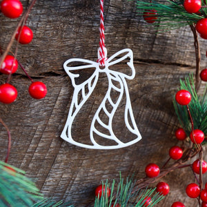 Bell Christmas Ornament - Holiday Stocking Stuffer Gift - Tree Home Decor