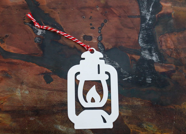 Oil Lantern Christmas Ornament - Holiday Stocking Stuffer Gift - Tree Home Decor