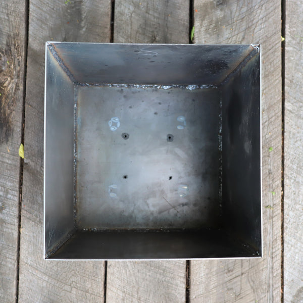 Modern Metal Planter - Geometric Cube Plant Pot - Patio Garden Decor