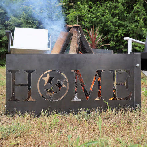 Home Steel Fire Pit - Metal Outdoor Backyard Fire Ring - Tennessee Tristar Patio Decor