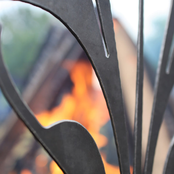 Custom Steel Fire Pit - Metal Outdoor Backyard Fire Ring - Personalized Text Home Patio Decor