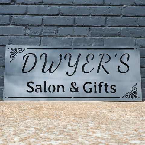 Personalized Boutique Shop Sign - Rustic Metal Beauty Salon Decor - Business Store Signage