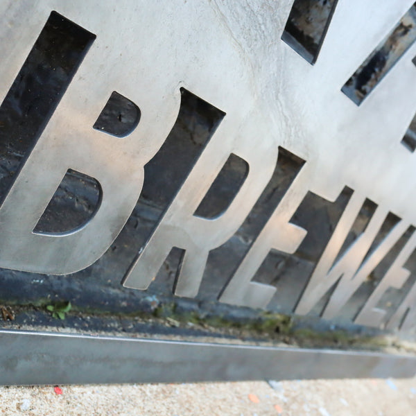 Personalized Metal Brewery Sign - Man Cave Bar Wall Art - Compound, Clubhouse, Outdoor Patio Decor