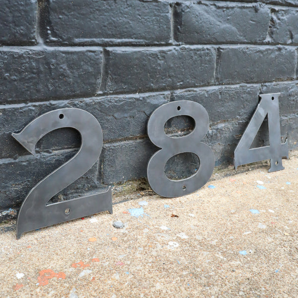 Raw Metal Numbers - Wedding Established Date Wall Art - House Address or Office Number Decor