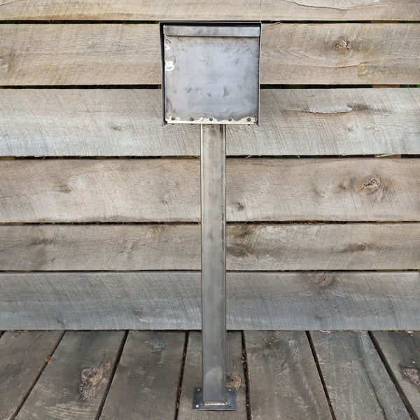 Minimalist Steel Mailbox - Metal Address Mail Box - Letter Box Post