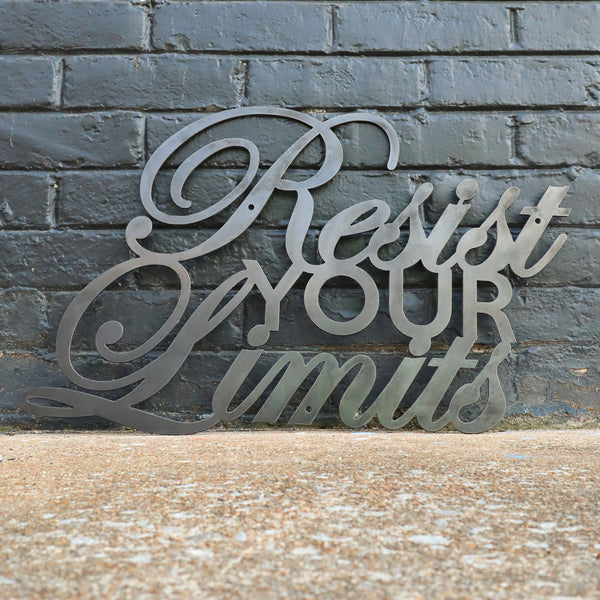Resist Your Limits - Home Gym Sign - Work Out, Exercise, Biking Decor