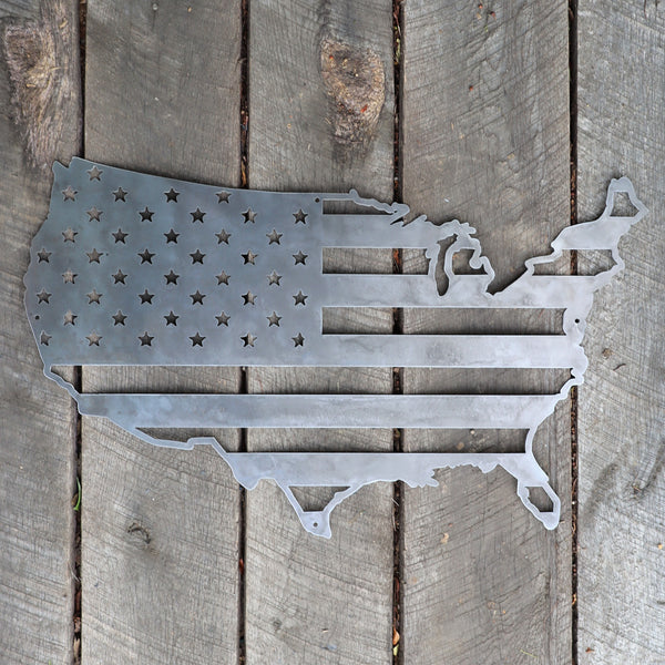The American Flag - Metal America Sign - Patriotic Wall Art - Fourth of July Decor