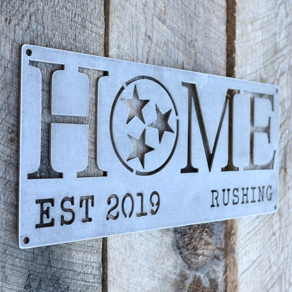 Personalized Metal Home Sign Made in Tennessee - Tristar, Family, Closing, Housewarming Gift