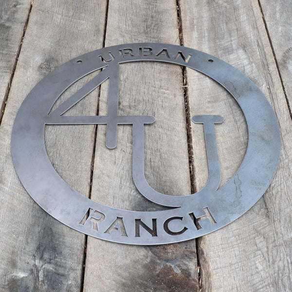 Metal Cattle Brand Sign - Ranch, Farm, House, Home, Last Name, Family