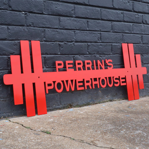 Barbell Gym Sign Customizer
