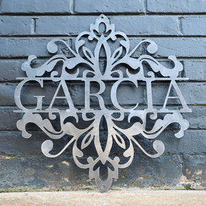 Last Name Wedding Sign - Personalized Metal Family Decor - Custom Words Wall Art